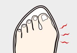 足に合わない靴
